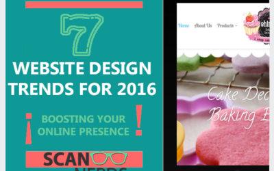 Website Design Trends 2016